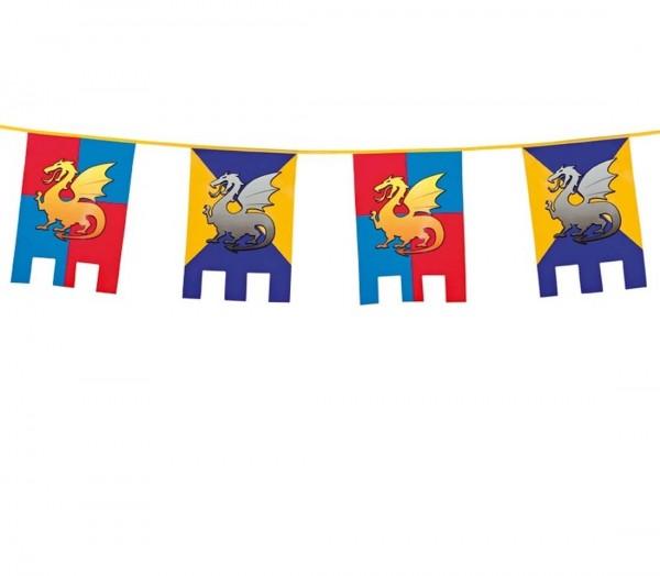 Ritter-Girlande mit Drachen