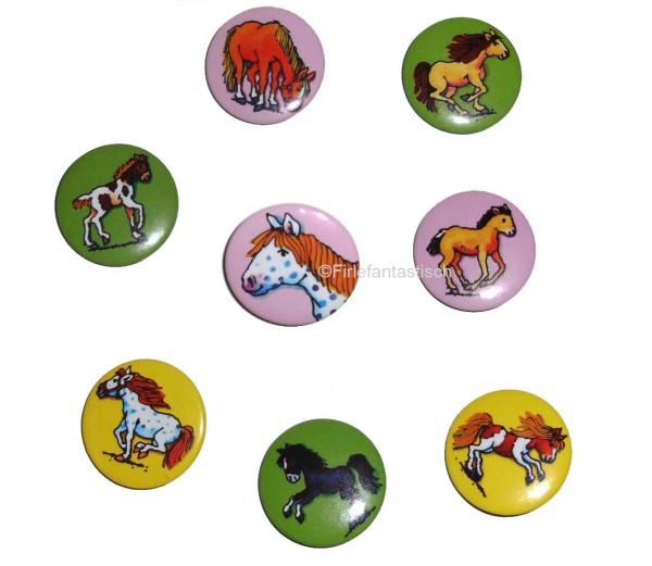 Mini-Buttons Pferde 8St.