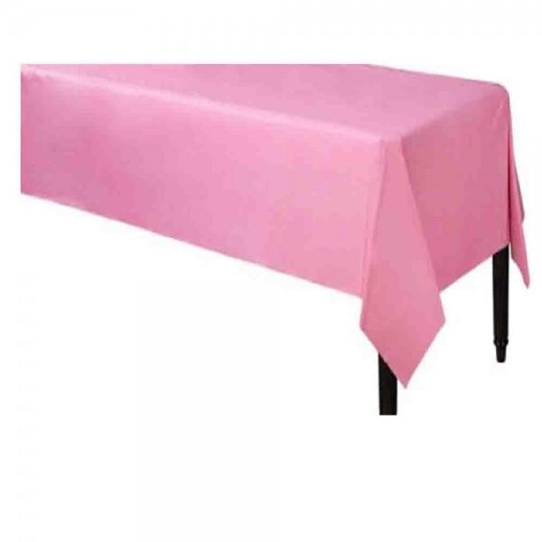 Rosa-Tischdecke