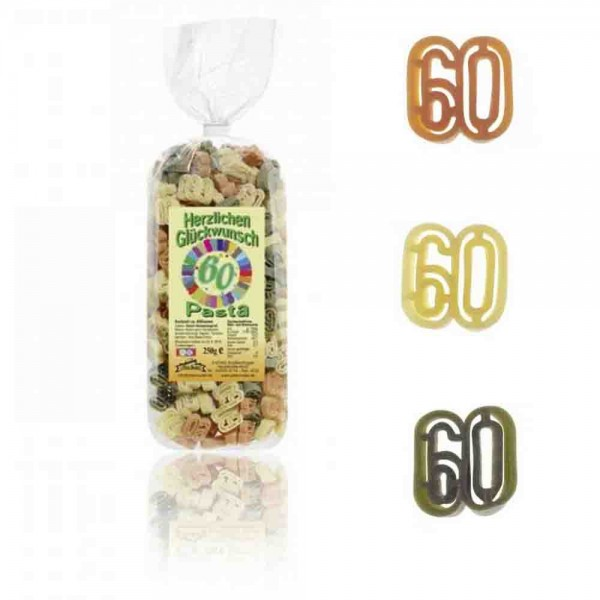 60. Geburtstag-Nudeln