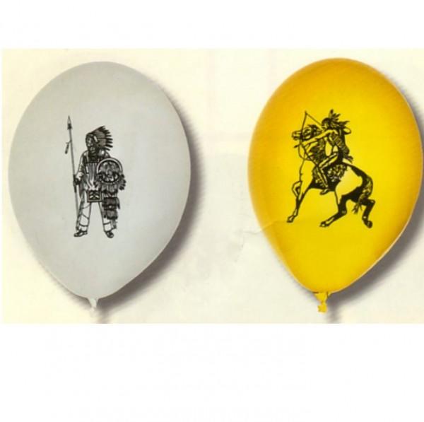 Indianer-Luftballons, Packung mit 10 Stück