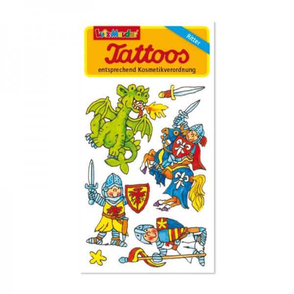 Ritter-Tattoo mit Drache