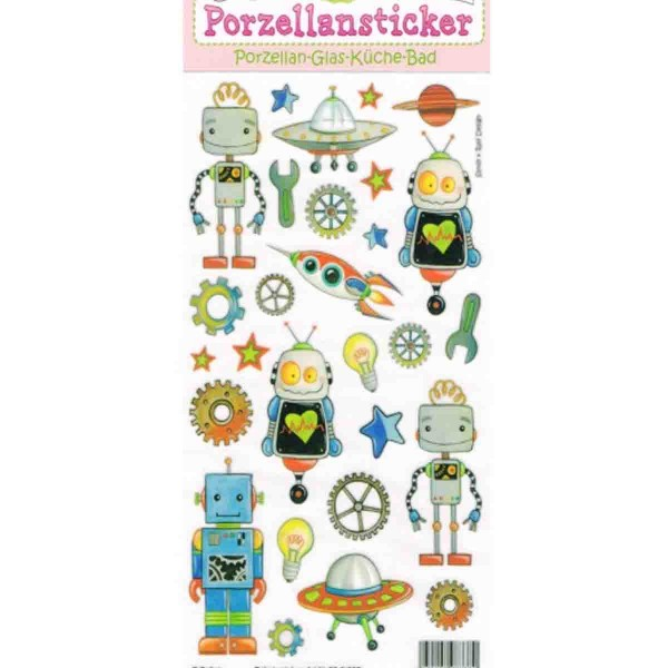 Porzellan-Sticker Space