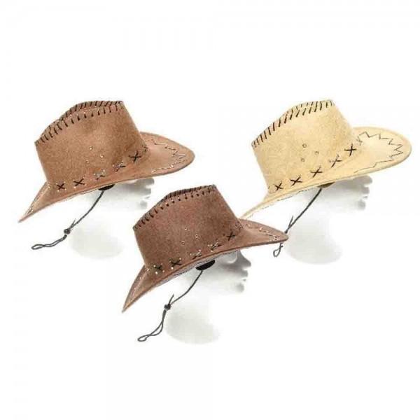 Cowboyhut Wildlederoptik