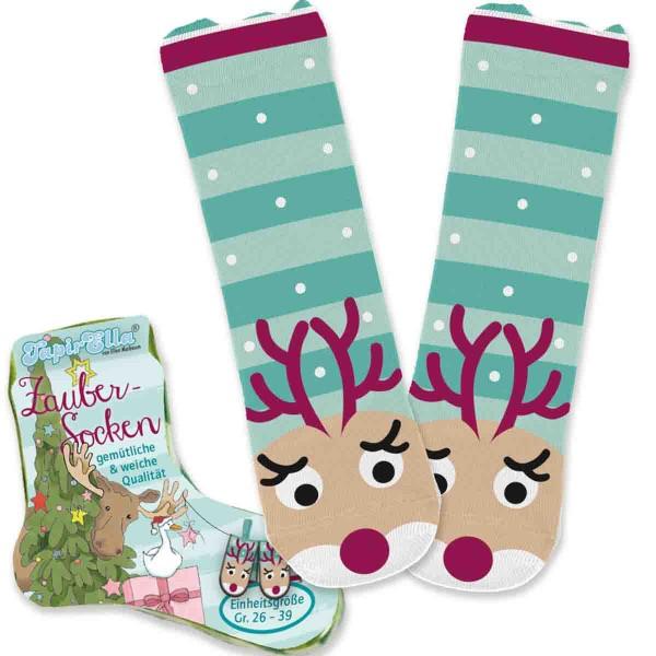 Flauschige Socken für Weihnachten