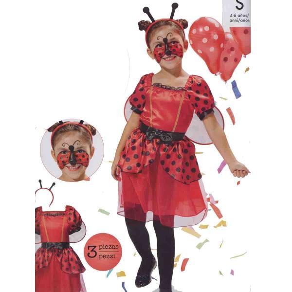 Marienkäfer-Kostüm 3-teilig Größe S