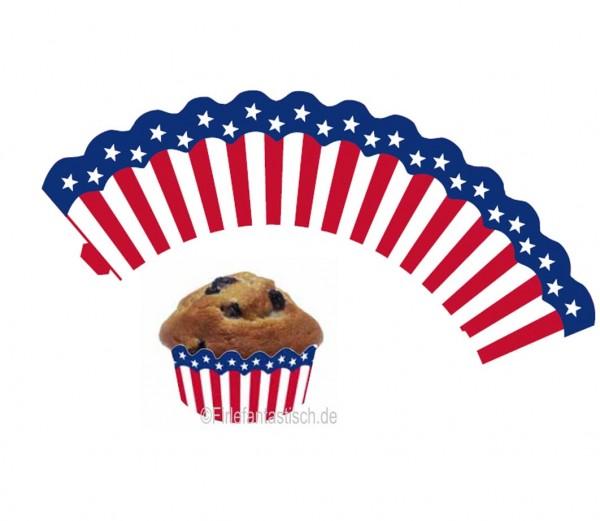 Cupcake Banderolen USA 12St.