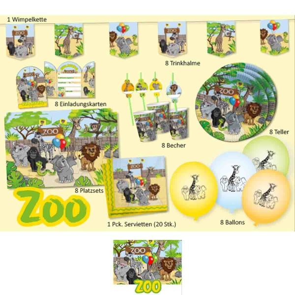 Umfangreiche Partybox für die Zoo Party