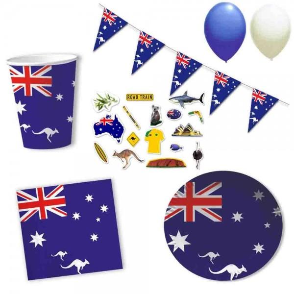 Partyset Australien 10 Personen