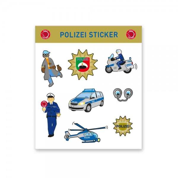 Polizeisticker für den Kindergeburtstag Polizei
