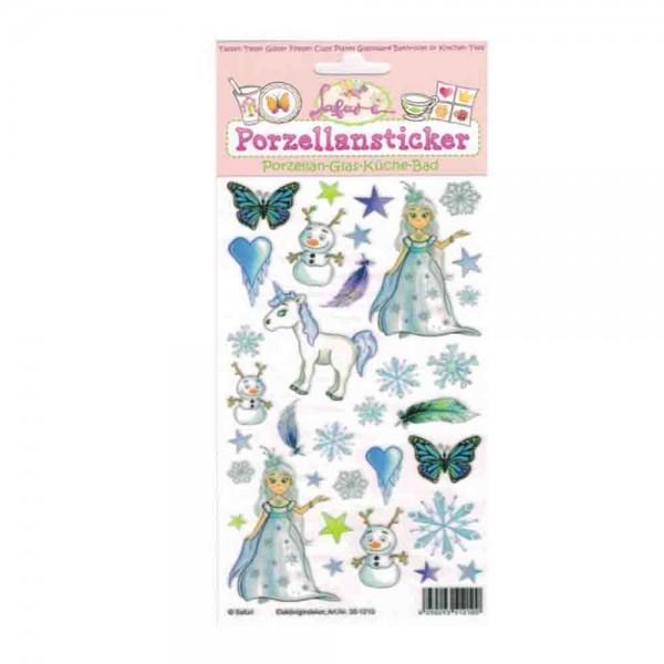 Porzellan-Sticker Eiskönigin