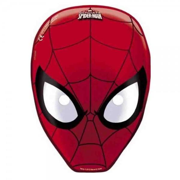 spiderman masken 6st partyzubeh r spiderman firlefantastisch. Black Bedroom Furniture Sets. Home Design Ideas