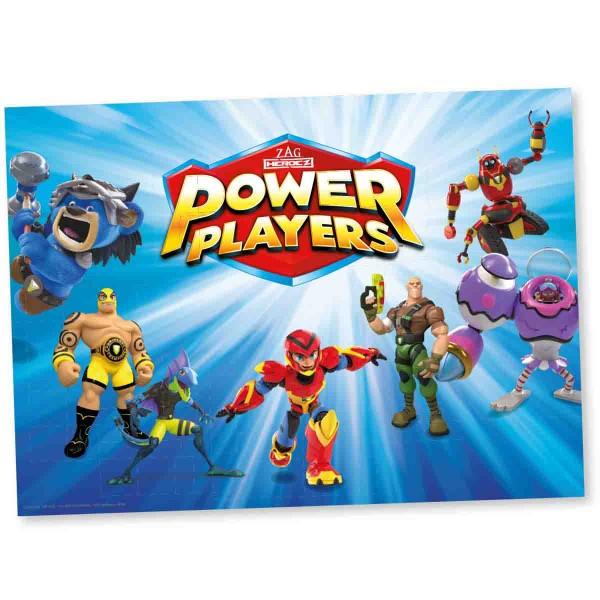 8 Platzsets für den Power Players Geburtstag