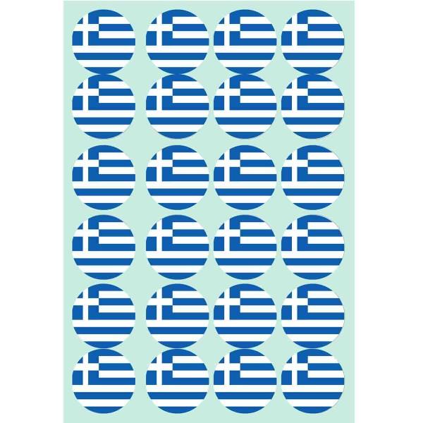 Essbare Muffindekoration zum Thema Griechenland