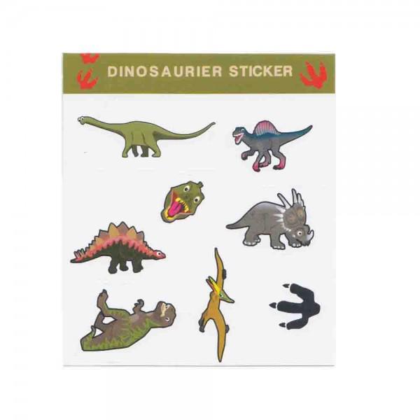 Dinosaurier Sticker als Mitgebsel auf der Dinoparty