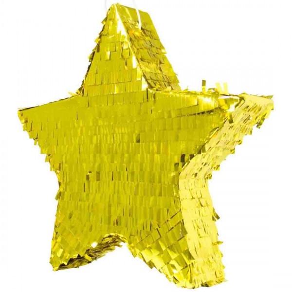 Große Pinata als goldene Deko für die Party