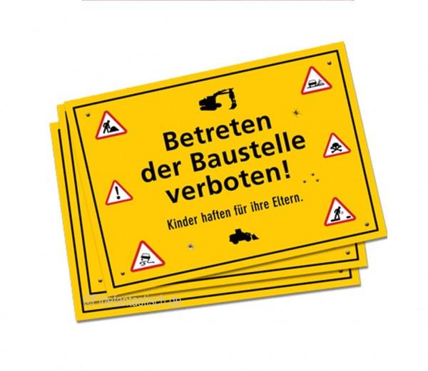 Achtung Baustelle-Platzset