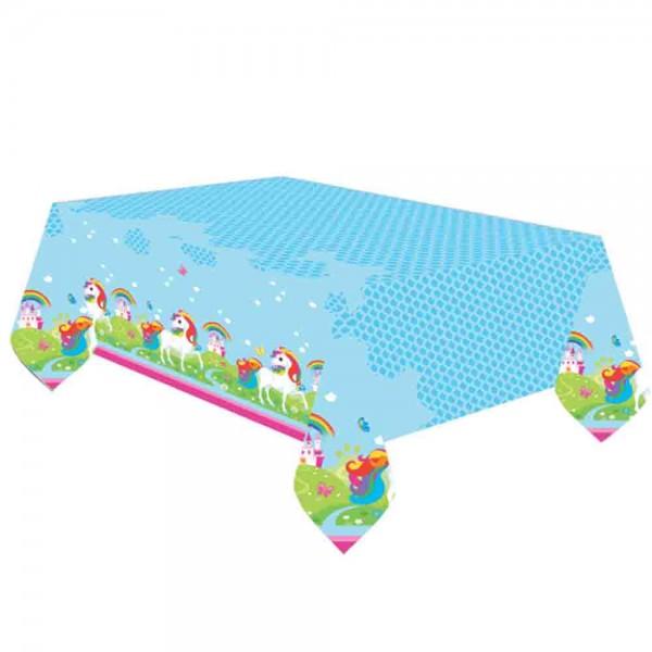 Abwaschbare Tischdecke für den Kindergeburtstag Einhorn