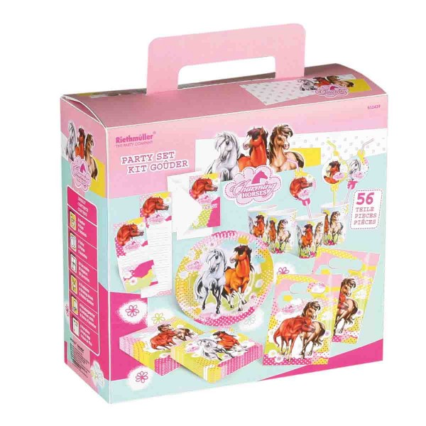 Partykoffer Charming Horses 56tlg