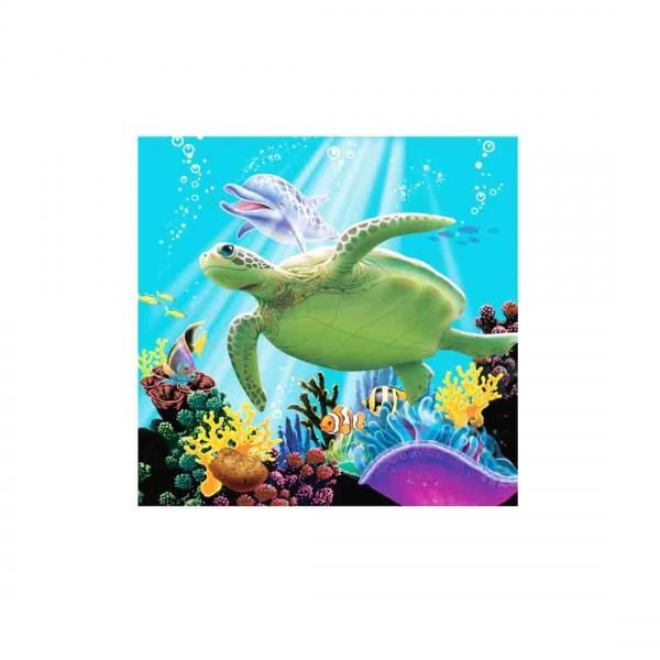 Schöne Servietten für die Unterwasserparty