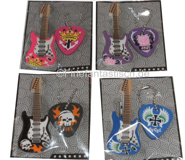 Gitarren-Radiergummi-Set