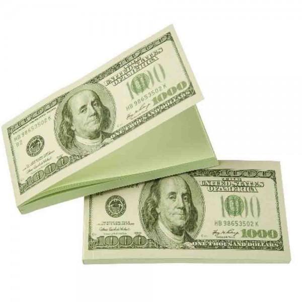 Notizbuch Dollarscheine