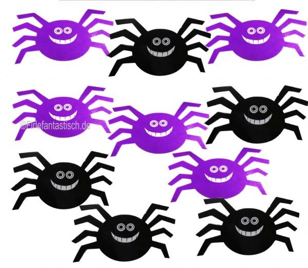 Gro0es Spinnenkonfetti als Tischdeko