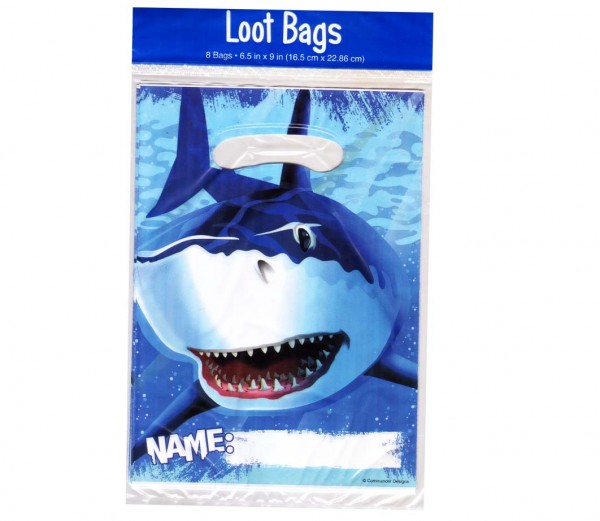Partytüten für kleine Mitgebsel auf der Unterwasserparty oder Haifisch-Party