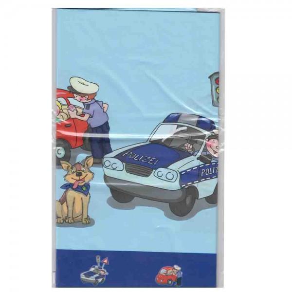 Abwaschbare Tischdecke für die Polizeiparty