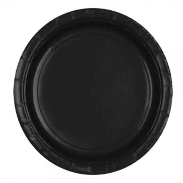 Schwarze Teller, ideal für die Gruselparty oder Halloweenparty