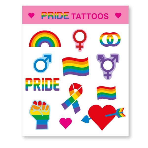 Regenbogen Tattoo Pride