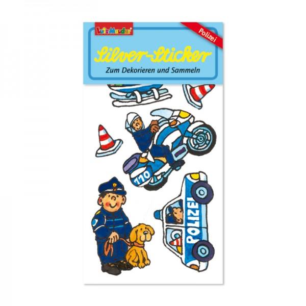Silver-Sticker Polizei