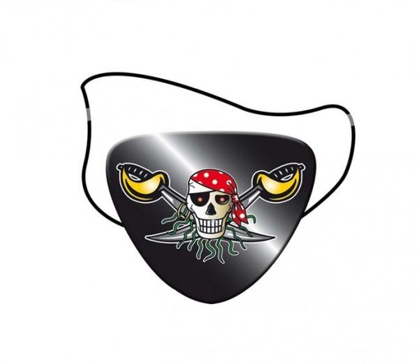 Piraten-Augenklappe Roter Pirat 8St.