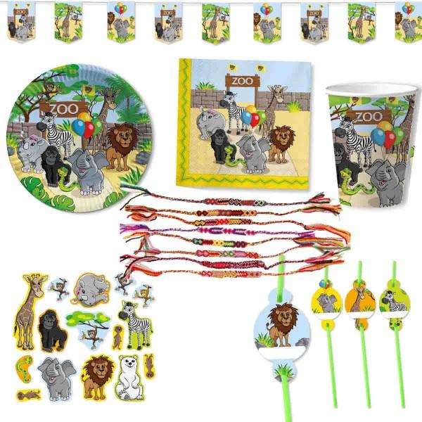 Komplettes Set für den Kindergeburtstag Zoo