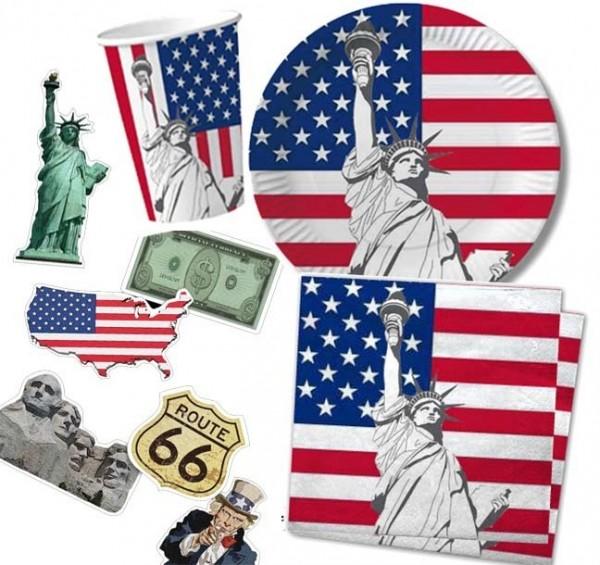 Komplettes Partyset für die USA Party