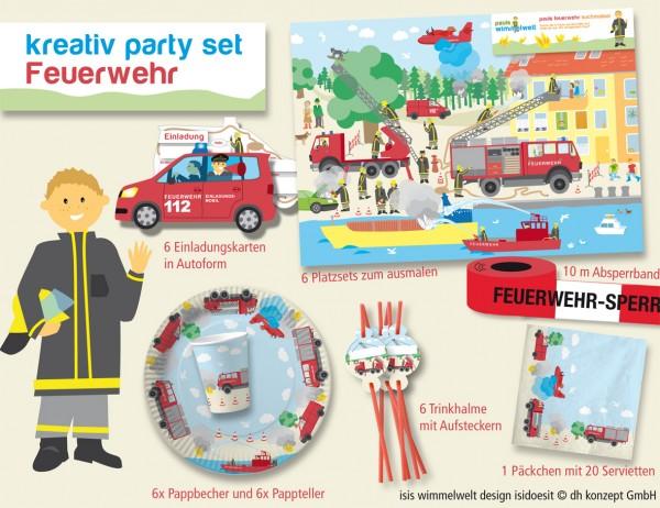 Isis Feuerwehr-Partybox XXL 51tlg.