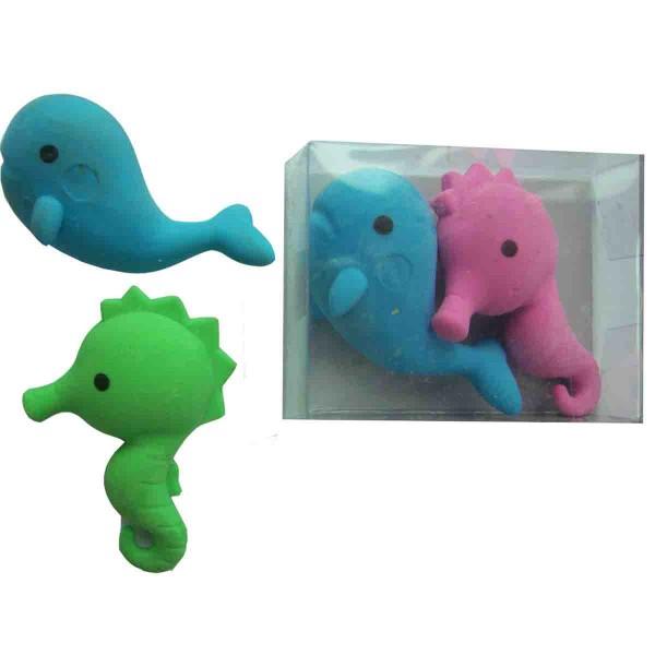Radiergummi Seepferdchen+Wal