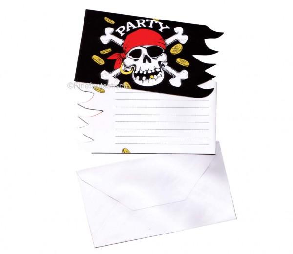 Piraten-Einladungskarten Fahne