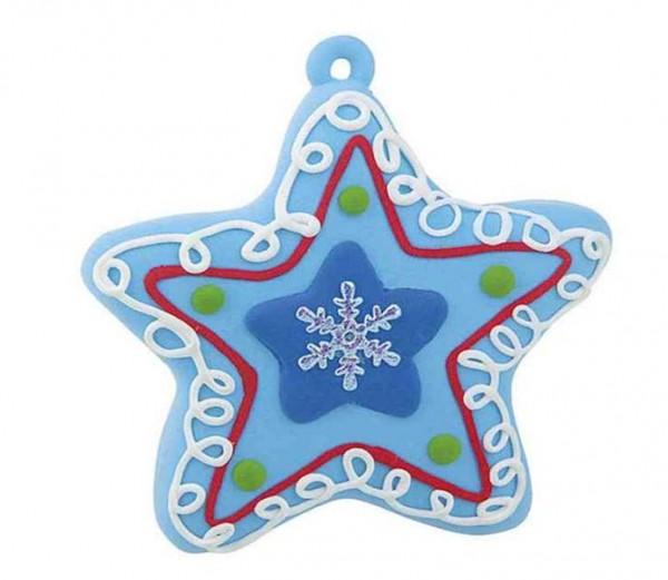 Knete Weihnachtsstern