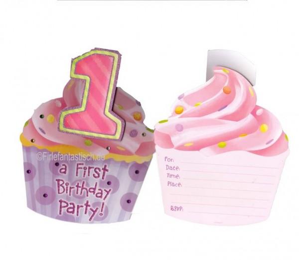 Mädchen-Einladungen 1.Geburts.