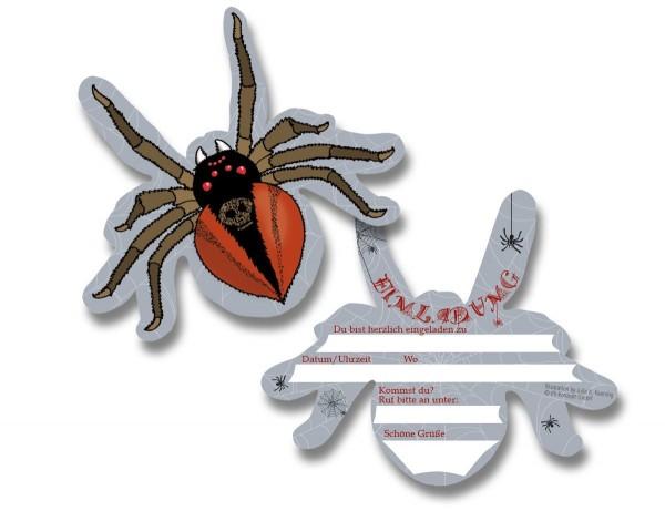 Spinnen Einladung 6St.