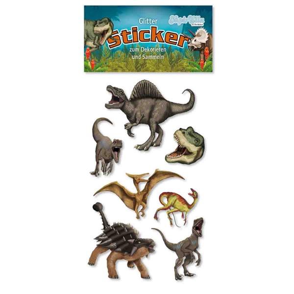Glitter-Sticker Dinosaurier