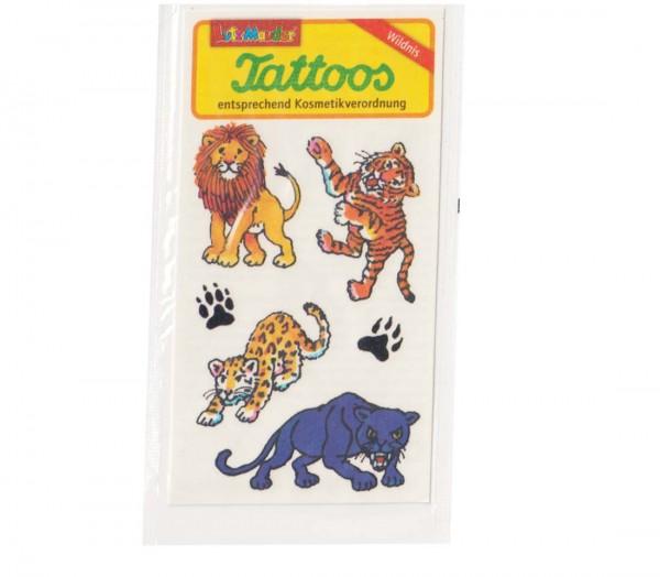 Dschungel-Tattoo Raubkatzen