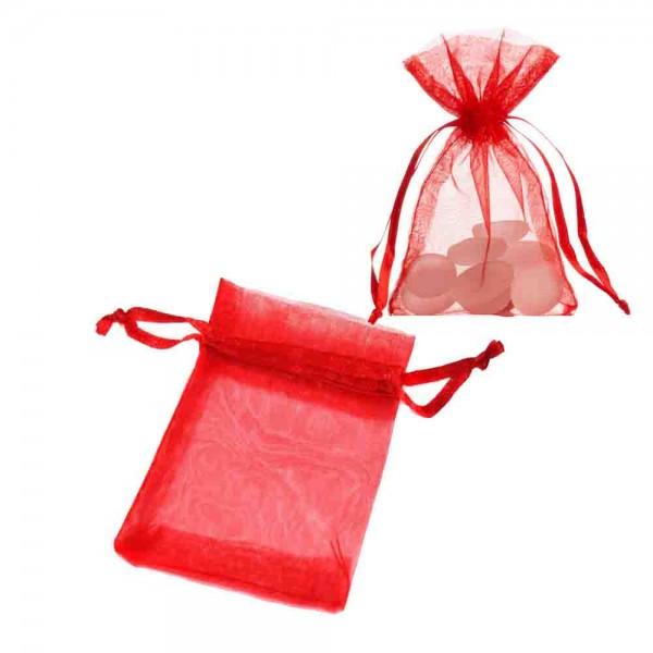 Organza-Säckchen Rot