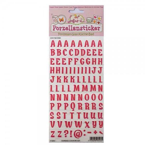 Porzellan Buchstaben in Pink