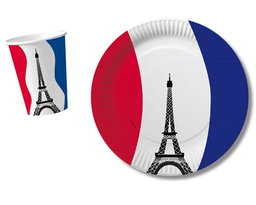 Frankreich-Teller 10St.