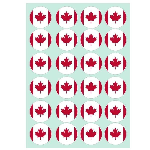 Essbare Muffindekoration zum Thema Kanada