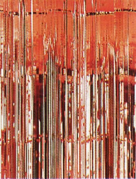 Roter Flimmertürvorhang, ideal für die Feuerwehrparty