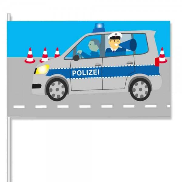 Papierflaggen Polizei 8 Stück