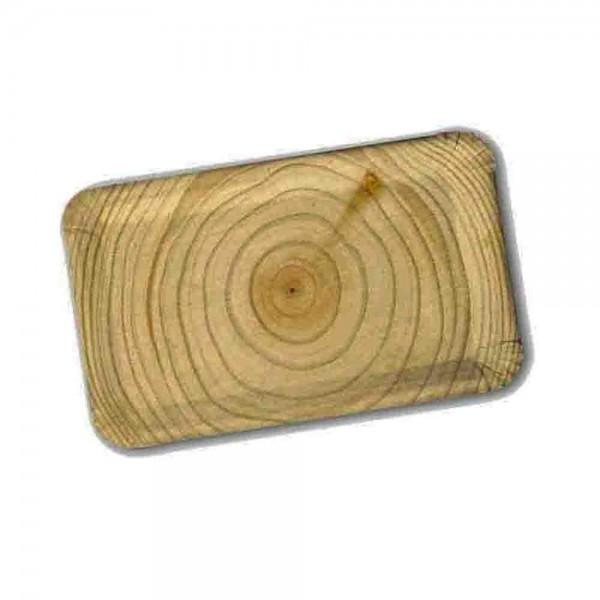 Pappteller 24cm rechteckig Baumstamm 10St.